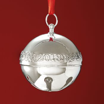 Wallace 2018 Annual Silver Plate Sleigh Bell Ornament - 48th Edition, , default