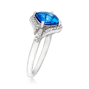 2.20 ct. t.w. Blue and White Swarovksi Topaz Ring in Sterling Silver