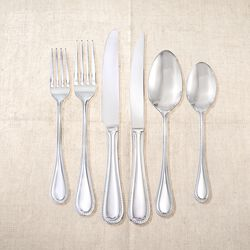 "Studio Silversmiths ""Colonial Bead"" Stainless Steel Flatware, , default"