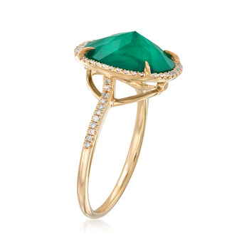 Emerald Triplet and .18 ct. t.w. Diamond Ring in 14kt Yellow Gold