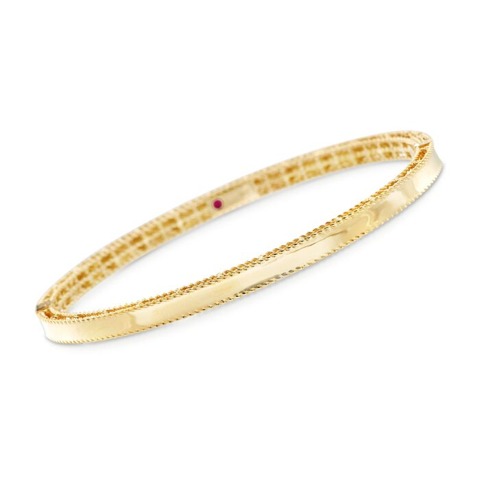 "Roberto Coin ""Symphony"" Princess 18kt Yellow Gold Bangle Bracelet. 7"", , default"