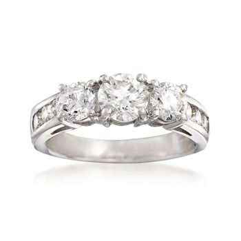 2.00 ct. t.w. Diamond Engagement Ring in 14kt White Gold, , default