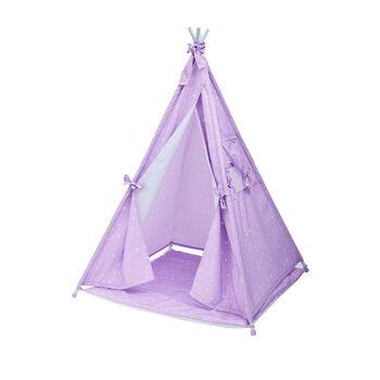 Child's Purple Twinkle Star Teepee Tent, , default