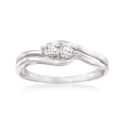 .25 ct. t.w. Diamond Two Stone Ring in 14kt White Gold, , default