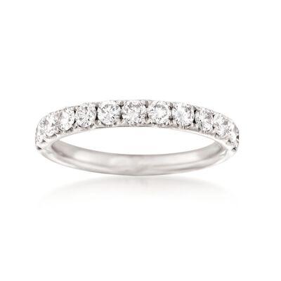 Henri Daussi .75 ct. t.w. Diamond Wedding Ring in Platinum, , default