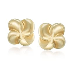 14kt Yellow Gold Pinwheel Stud Earrings, , default