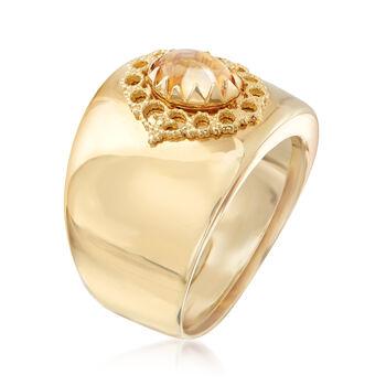 Italian .90 Carat Citrine Ring in 14kt Yellow Gold, , default