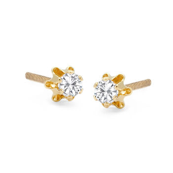 Mom & Me .33 ct. t.w. Diamond Stud Earring Set of 2 in 14kt Yellow Gold