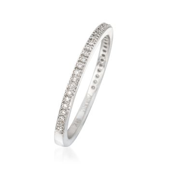 Simon G. .15 ct. t.w. Diamond Wedding Ring in 18kt White Gold