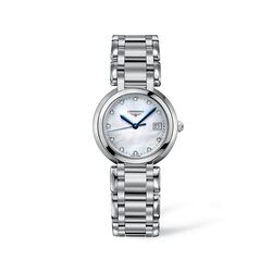 Longines Primaluna Women's 30mm Stainless Steel Watch With Diamonds - Mother-Of-Pearl Dial, , default