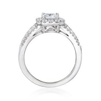 .71 ct. t.w. Diamond Engagement Ring Setting in 14kt White Gold