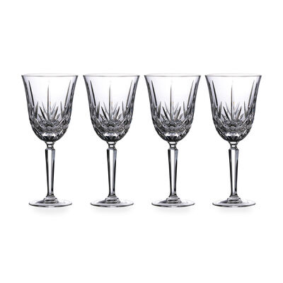 "Marquis by Waterford Crystal ""Maxwell"" Set of 4 Goblets from Italy, , default"