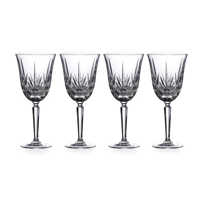 """Marquis by Waterford Crystal """"Maxwell"""" Set of 4 Goblets from Italy"""