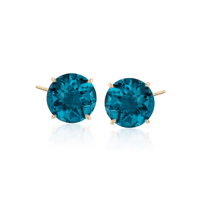 4.50 ct. t.w. London Blue Topaz Earrings in 14kt Yellow Gold