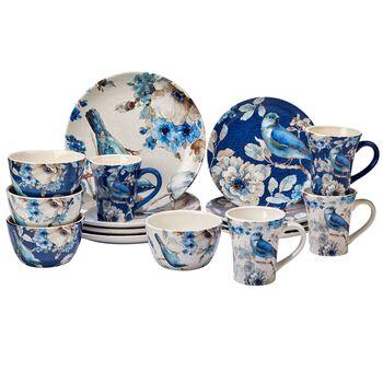 "Lisa Audit ""Indigold"" Ceramic Dinnerware, , default"
