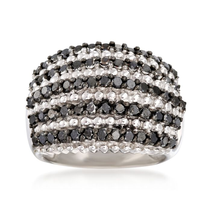 2.00 ct. t.w. Black Diamond Dome Ring in Sterling Silver, , default