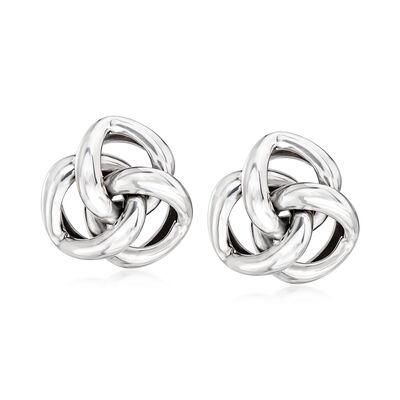 Sterling Silver Love-Knot Earrings