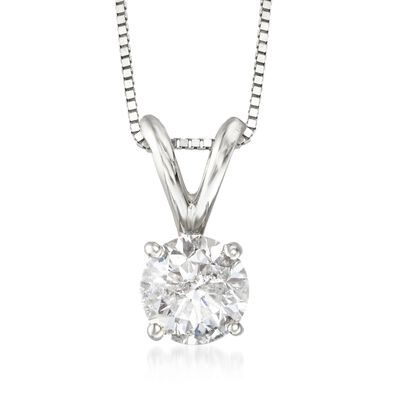.75 Carat Diamond Pendant Necklace in 14kt White Gold, , default