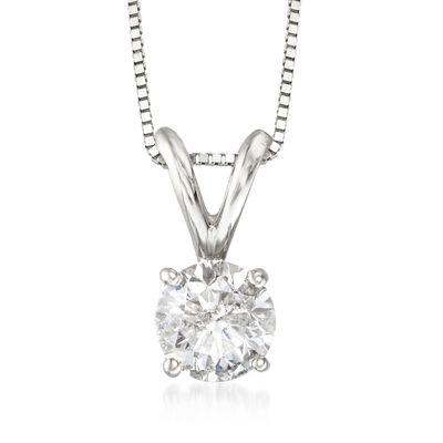 .75 Carat Diamond Pendant Necklace in 14kt White Gold, , default