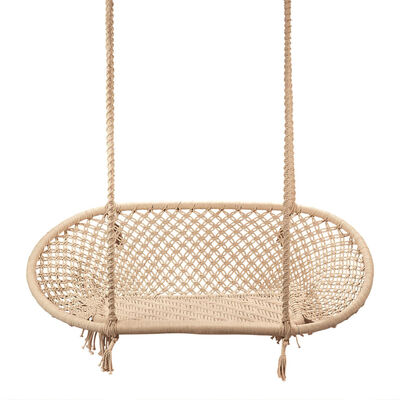 """""""Out of Africa"""" Loveseat-Style Macrame Hanging Chair, , default"""