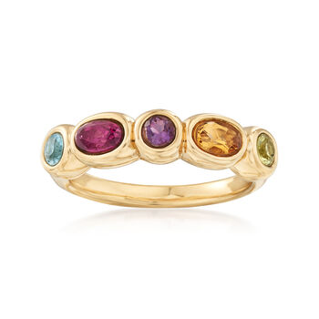 .80 ct. t.w. Multi-Stone Ring in 14kt Yellow Gold, , default
