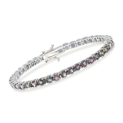 14.00 ct. t.w. Mystic Topaz Tennis Bracelet in Sterling Silver, , default