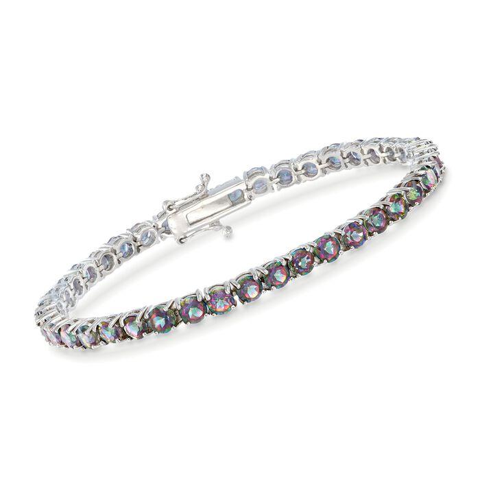 """14.00 ct. t.w. Mystic Topaz Tennis Bracelet in Sterling Silver. 7"""", , default"""