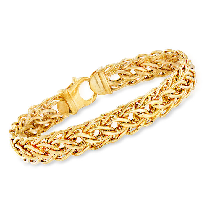Italian 14kt Yellow Gold Cestina Link Bracelet
