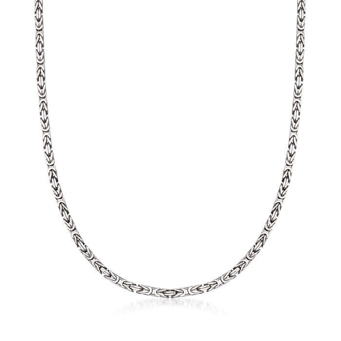 2.3mm Sterling Silver Byzantine Necklace
