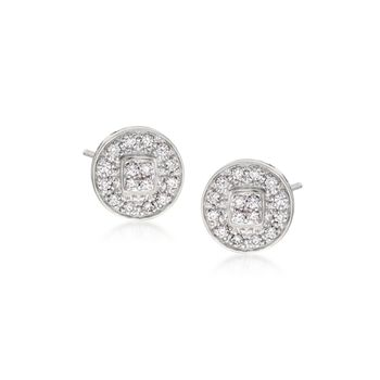 "ALOR ""Classique"" .27 ct. t.w. Diamond Stud Earrings in 14kt White Gold , , default"