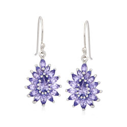 2.90 ct. t.w. Tanzanite Drop Earrings in Sterling Silver, , default