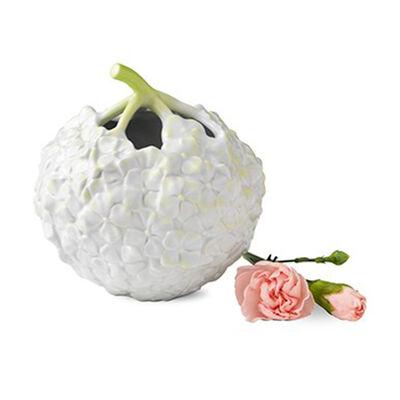 Royal Copenhagen Hand-Painted White Porcelain Hydrangea Vase, , default