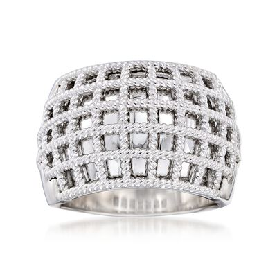 "Andrea Candela ""Geo"" Sterling Silver Ring"