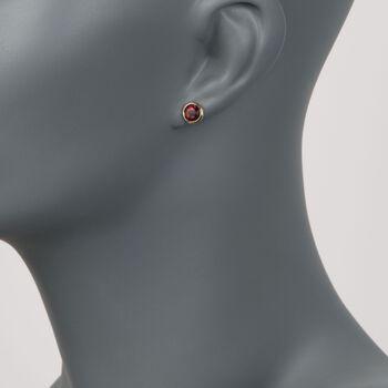 2.00 ct. t.w. Bezel-Set Garnet Stud Earrings in 14kt Yellow Gold, , default