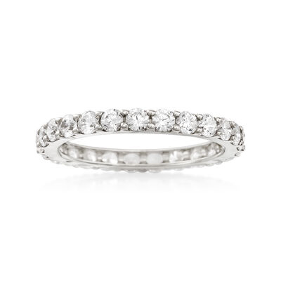 1.25 ct. t.w. CZ Eternity Band in 14kt White Gold, , default