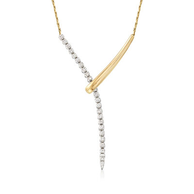 .50 ct. t.w. Diamond Lariat Necklace in 14kt Two-Tone Gold, , default