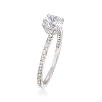 Simon G. .15 ct. t.w. Diamond Engagement Ring Setting in 18kt White Gold