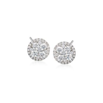 Gregg Ruth .91 ct. t.w. Diamond Stud Earrings in 18kt White Gold, , default