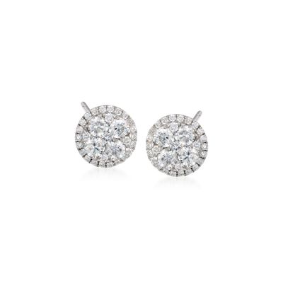 Gregg Ruth .91 ct. t.w. Diamond Stud Earrings in 18kt White Gold, , default