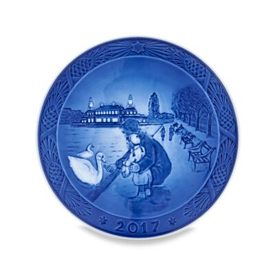 Royal Copenhagen 2017 Annual Porcelain Christmas Plate - 110th Edition, , default