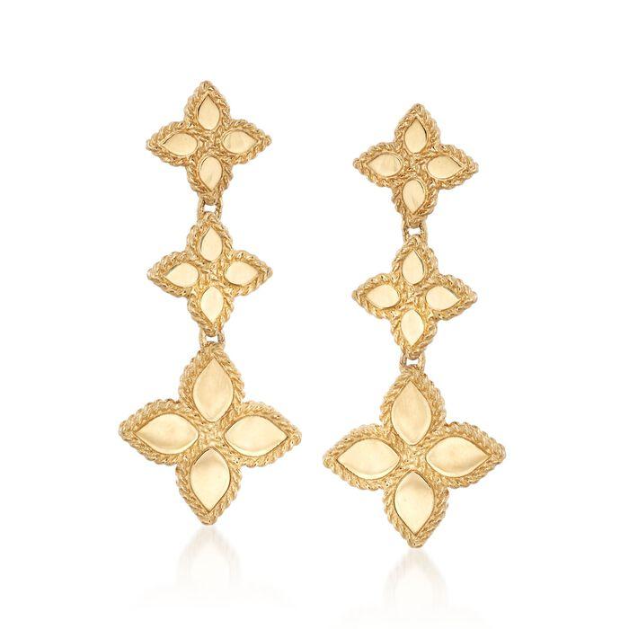 "Roberto Coin ""Princess"" 18kt Yellow Gold Flower Drop Earrings, , default"
