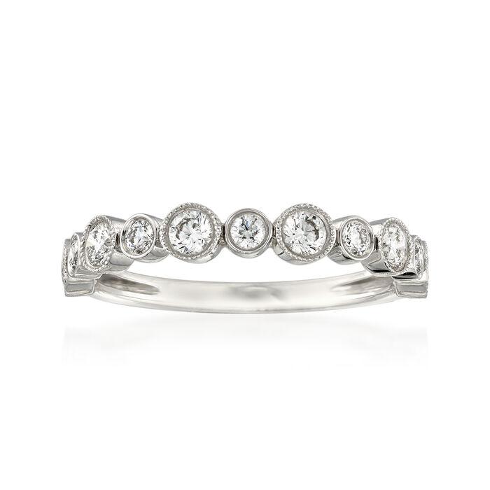 Henri Daussi .55 ct. t.w. Diamond Wedding Ring in 14kt White Gold, , default