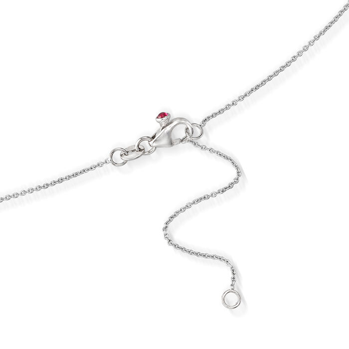 Roberto Coin .23 ct. t.w. Diamond Station Necklace in 18kt White Gold