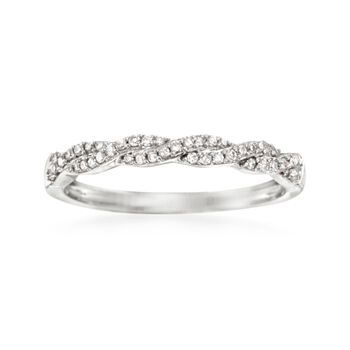 .15 ct. t.w. Diamond Braided Ring in 14kt White Gold, , default