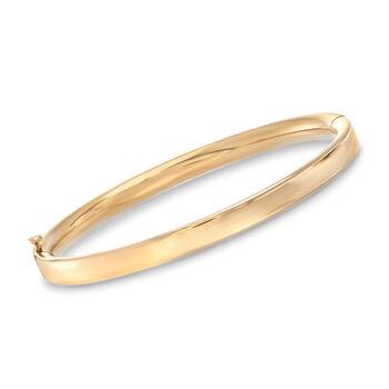 """Mom & Me Bangle Bracelet Set of 2 in 14kt Yellow Gold. 8"""", , default"""