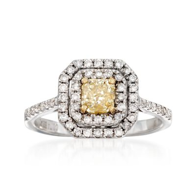 1.16 ct. t.w. Yellow and White Diamond Ring in 18kt Two-Tone Gold, , default