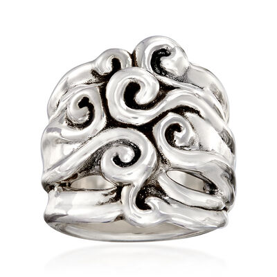 Sterling Silver Multi-Swirl Ring