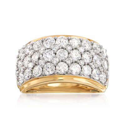 3.00 ct. t.w. Diamond Multi-Row Ring in 14kt Yellow Gold, , default