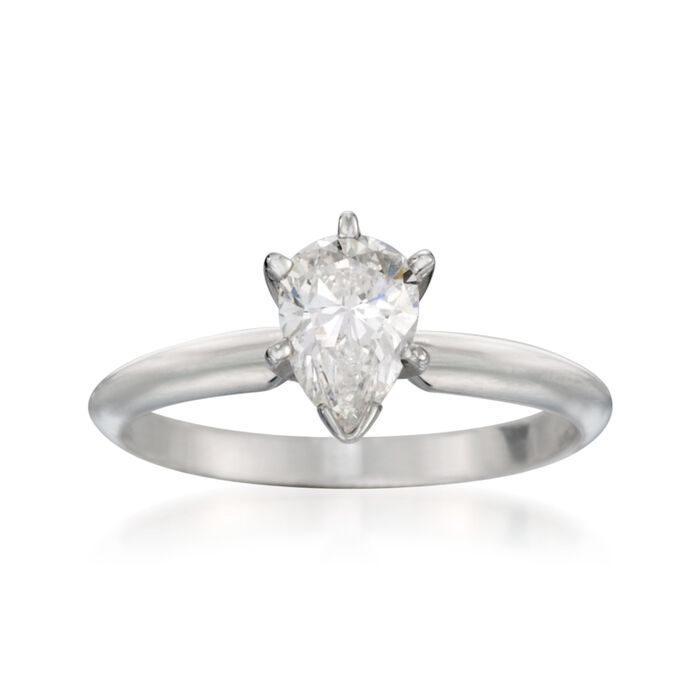 .76 Carat Diamond Solitaire Engagement Ring in 14kt White Gold. Size 6, , default