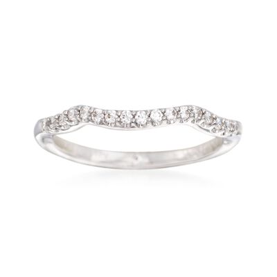 Gabriel Designs .17 ct. t.w. Diamond Wedding Ring in 14kt White Gold, , default